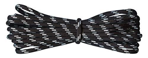 Fabmania Starke Schnürsenkel für Wanderschuhe - Schwarz - Weiss - Länge 110 cm