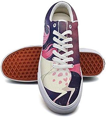 Women'scat and Unicorn Canvas Shoes Low-Cut Straps
