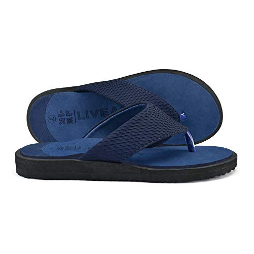 LivEasy Extra Soft Ortho Care Diabetic & Orthopedic Slippers / Doctor Slippers & Foortwear with Memory Foam - Men (Blue, numeric_11)