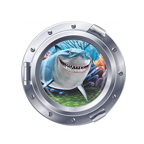 YRSM Finding Submarine Nemo Shark Sea View Children's Room Wall Sticker Waterproof