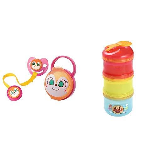 【セット買い】レック AN おしゃぶりセット (ドキンちゃん) S (月齢 0~3ヶ月) & アンパンマン 2WAY ミルクケース (離乳食保存兼用) KK-181