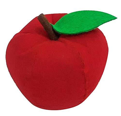 Plus Nao(プラスナオ) 手芸キット フェルト 食べ物モチーフ 食材 野菜 果物 バスケット おままごとセット ベビー 幼児 素材セット 手作り - B【リンゴ】