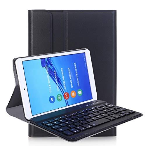LICHONGGUI A0T8 for Huawei MatePad T8 8 Pulgadas Teclado Ultrafino ABS Bluetooth Desmontable Funda Protectora con Soporte de tensión PU (Color : Black)