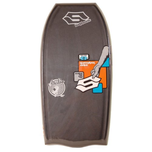 "Sniper Media Bodyboard - Tabla de Bodyboard, 41"", tamaño 104 x 52 x 5, 7 cm, Color Negro/Gris"