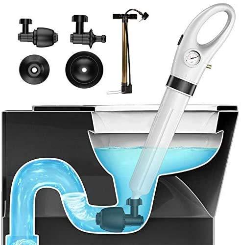 Knoijijuo Toilet Plunger Ablass Débloceur Hochdruck-Luft Blaster Abflussreiniger Mit Hohen Leistungsfähigen 4 Köpfen Bei Applied Küche Badezimmer