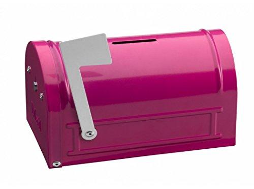 Arregui Hucha Mail C9702 Caja de Caudales Infantil, Hucha infantil, con forma de Buzón Americano, color rosa