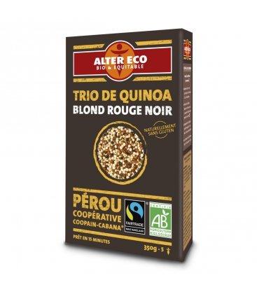 Trio de quinoa blond rouge noir bio &...