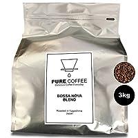 ジニスコーヒー「ボサノバブレンド 」プレミアムコーヒー・業務用のコーヒー豆  3kg【豆のまま】300杯分