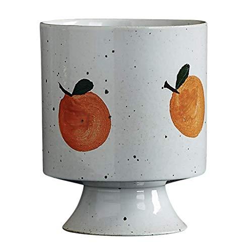 WMYATING Taza de café Hecho a Mano de gres Copa Taza de Jugo Lindo Personalidad Agua Taza Pintada a Mano Taza de té de Color Naranja Taza