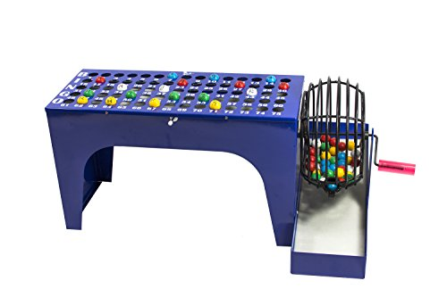 MR CHIPS Deluxe Bingo Set with Bingo Cage, 7/8 Inch Bingo Balls and Bingo Masterboard | All-in-One Table Top Bingo Machine