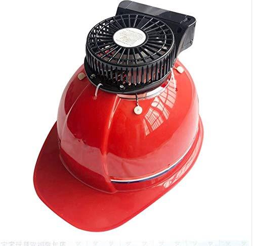 WJS Casco de Seguridad Material ABS con Ventilador Construcción del Sitio Construcción Ingeniería Energía Cuatro Estaciones Tapa del Ventilador de ventilación Unisex (Color : Red)