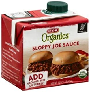 H-E-B Organics Sloppy Joe Sauce 16 oz (Pack of 3)