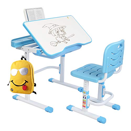 JOYMOR Kids Extra Large Desk & Chair Set