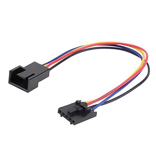 N / E Adaptador de conector de ventilador de 5 pines a 4 pines, cable de extensión para Dell estilos de pestillo de 5 pines para PC y portátil