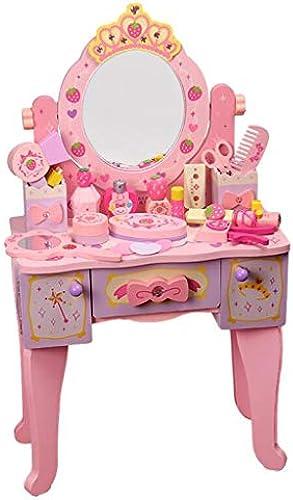 LLRDIAN Kinder Schminktisch Schminktisch Spielzeug mädchen Princess House House Set Dressing Box Girl 3-6 Jahre