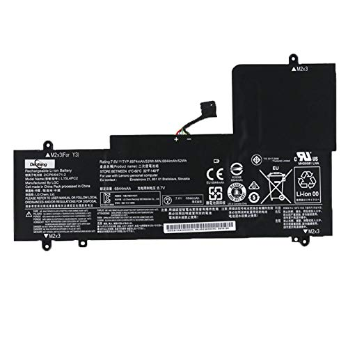 ANTIEE L15M4PC2 7.64V 53Wh 6960mAh Laptop Batería para Lenovo Ideapad Yoga 710-14IKB 710-14ISK 710-15IKB 710-15ISK Series Notebook 5B10K90778 L15L4PC2 5B10K90802