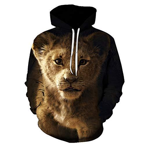 Hoodie Männer Frauen 3D Sweatshirt Der König der Löwen Anime Print Lion Hoodie Unisex Pocket Coat Mit Kapuze Skateboard Mantel Männliche Streetwear