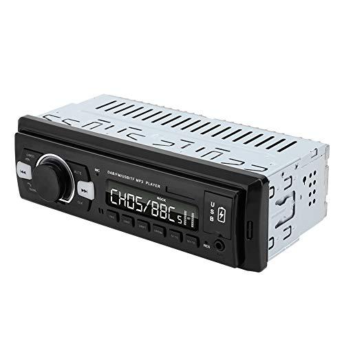 Zunate Radio de Coche, Radio Digital Dab con Soporte Bluetooth Leer Tarjeta Leer Disco Flash USB MP3 Puertos USB Dobles Radio FM Digital, para Reproducir música/Viajes/Accesorios de Coche