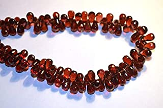 Jewel Beads Natural Beautiful jewellery 13-14mm 10 Beads Semi Precious Natural Pyrope Red Garnet Microfaceted Tear Drop Briolette BeadsCode:- JBB-34583