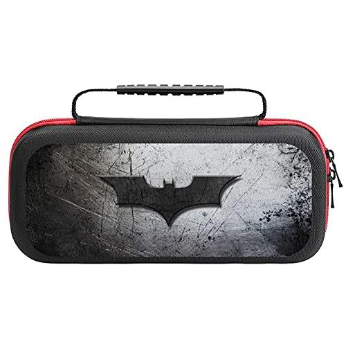 Étui de transport Batman pour Nintendo Switch - Coque rigide de protection - Étui de transport avec 20 cartouches de jeu pour accessoires de console Nintendo Switch