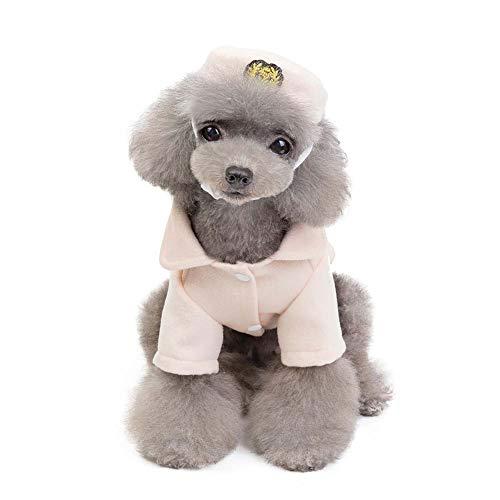 KSITH huisdierkleding voor honden, wollen muts, set voor herfst en winter, vliegenhelper, lege jas, design, XXL, Gris