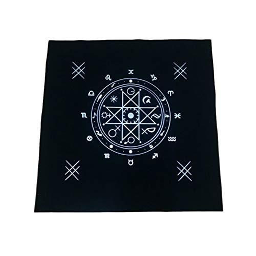 Dalin Art Tarot Pagan Altar Tuch Flanell Tischdecke Wahrsagungskarten Quadratischer Wandteppich