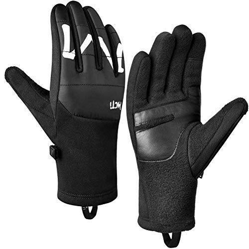 MCTi Handschuhe Herren Damen Winter Laufhandschuhe Touchscreen Fahrradhandschuhe für Motorrad Joggen Outdoor Sport