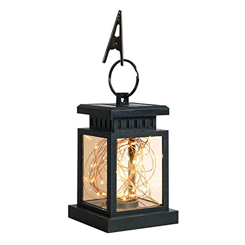Candle Lights Retro LED Solar Lamp Lantern Garden Decoration LED Candle Copper Wire String Hanging Light Waterproof Outdoor Landscape Lighting (Emitting Color : Copper Wire Style)