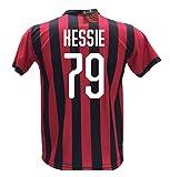 Maglia Calcio Milan Kessie 79 Replica Autorizzata 2018-2019 Bambino (Taglie 2 4 6 8 10 12) Adulto (S M L XL) (M)