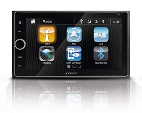 """Xzent X-422: Infotainer, 2 DIN Mediencenter, Multimediasystem mit 16,5 cm / 6,5"""" Touchscreen, Autoradio mit DAB+, Bluetooth, USB, zum Festeinbau Navi für Autos oder Reisemobile erweiterbar"""
