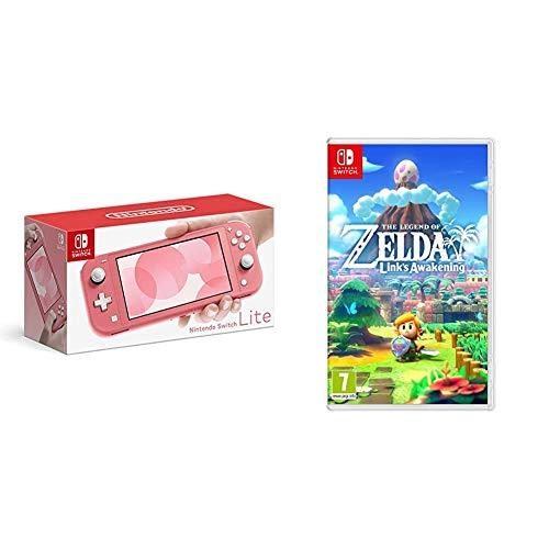 Nintendo Switch Lite - Coral + Legend of Zelda Link's Awakening Standard Edition