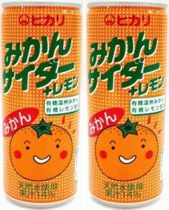 光食品 みかんサイダー+レモン 250ml缶×30本入×(2ケース)