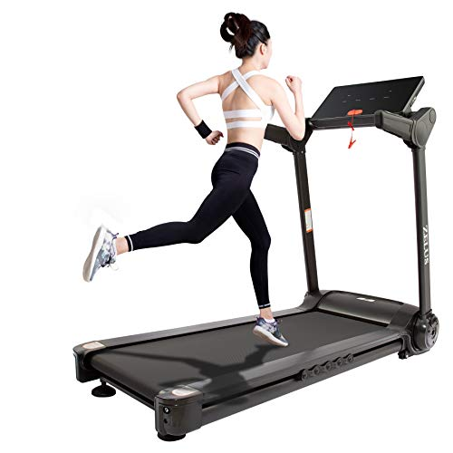 HIRAM Tapis Roulant Pieghevole Elettrico Treadmill Professionale Alzabile velocità Regolabile 14,8KM/H Allenamento Fitness per Casa Ufficio Bluetooth USB Porta capacità 120 kg