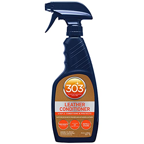 303 Leather Conditioner - Step 2: Conditions and Protects - Safe for Use On Both Finished and Unfinished Leathers - Prevents Cracking - Repels Stains, 15.5 fl. oz. (30231CSR)