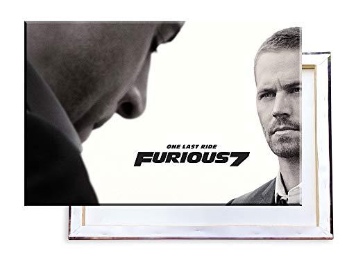 Unified Distribution Fast and Furious 7-100x70 cm Kunstdruck auf Leinwand • erstklassige Druckqualität • Dekoration • Wandbild