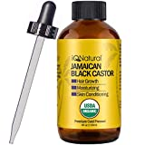 Jamaican Black Castor Oil USDA Certified Organic for Hair Growth and Skin Conditioning [SCENT REGULAR]- 100% Cold-Pressed 4oz Bottle