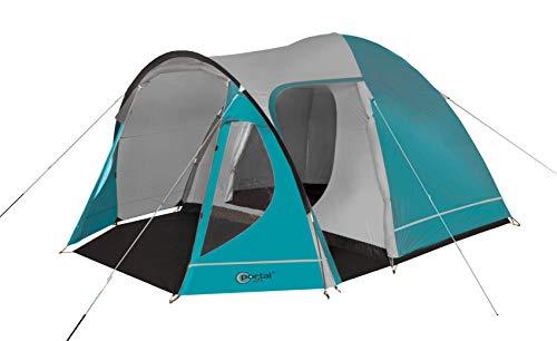 Portal Outdoors Portal Delta Kuppelzelt und Tragetasche, für bis zu 4 Personen, wasserdicht mit einem separaten Schlafzimmer, Blue