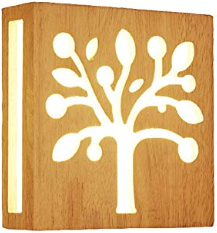 Moderne Minimalistische Wohnzimmergang Des Kreativen Massivholz-Glückbaummuster-Wandlampens Führte Schlafzimmernachttischlampen-Wandlampe Wandleuchten