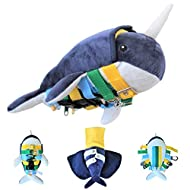 Sensory4u Narwhal Sensory Buckle Pillow Fine Motor Development Toy Activity - Plus Maze Game and Zipper Skills All in One - Montessori Inspired Educational Learning Toy