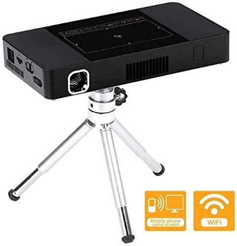 YAYY projector, bluetooth, wifi, mini-videoprojector, Android-systeem, wifi, 2 4G/5G draadloos hetzelfde scherm, intelligente instelling trapeziumcorrectie, glijfocus voor thuisbioscoop (upgrade)