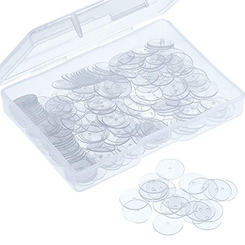 WILLBOND Clear Disc Pads to Stabilize Earrings, Plastic Discs for Earring Backs (200)