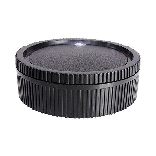 CamDesign Rear Lens Cap & Body Cap Set Compatible with Leica R Mount Camera R3, R4, R5, R6, R7, R8, R9, Leicaflex SL and Leicaflex SL2 SLR, R, Rom, One-Cam, Two-Cam, Three-Cam