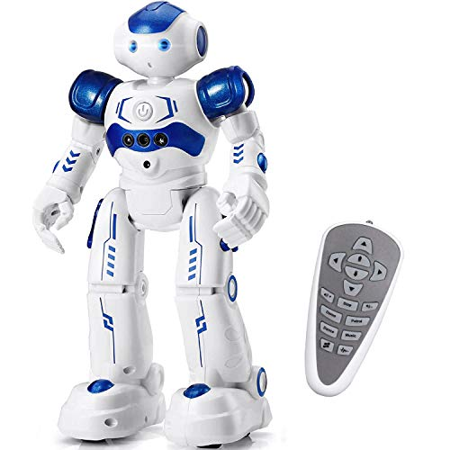 SteamPrime Robots for Kids Infrared Remote Control Robot Toys, Rechargeable Intelligent Programmable Robot Hand Gesture Sensing , Dancing , Walking, Singing Birthday for Kids, Blue