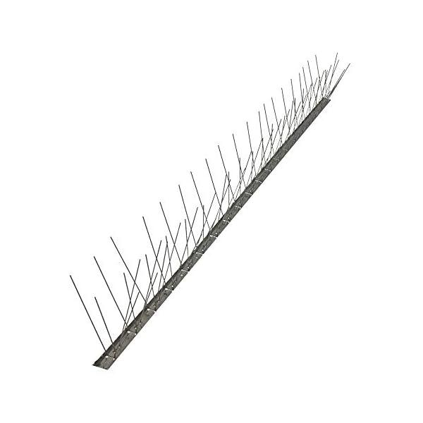 Pinchos anti palomas 80 puntas de acero inoxidable AISI 304, caja de 25 metros base flexible