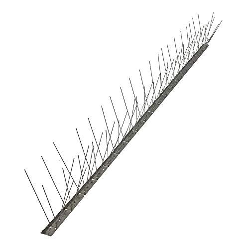 Einside AISI 304 - Pinchos Anti Palomas, 80 Puntas de Acero Inoxidable, Caja de 25 m Base Flexible
