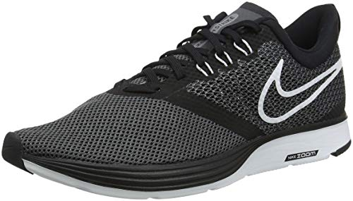 Nike Men's Zoom Strike Black/White-Dark Grey Ankle-High Mesh Running Shoe - 10.5M