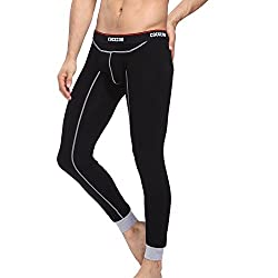 mens long underwear bottoms black