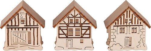 Aufsteckhaus 3er-Set - Original Erzgebirge Schwibbögen - Tietze