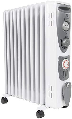 Prem-i-air Oil-Filled Radiators, White/Grey
