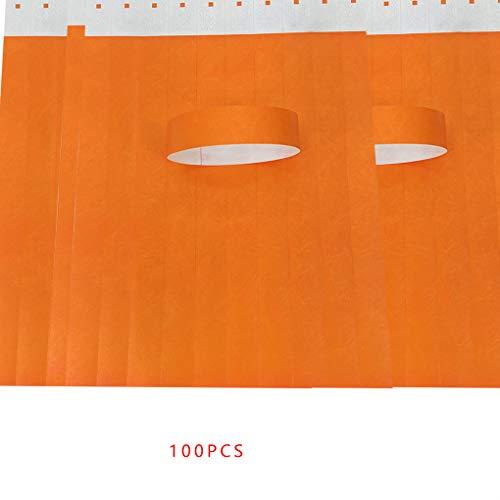Nowear 100 Teile/Satz wasserdichte Einweg Events Armbänder Vlies Papier Armbänder Vergnügungspark Eintrittskarte